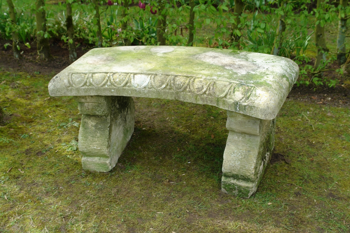 Amazing 19Th Century Carved Stone Garden Bench Seat Creativecarmelina Interior Chair Design Creativecarmelinacom