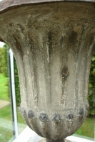 Cast iron garden urn, France, late 18th century