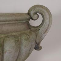 A pair of Pulham stoneware garden urns