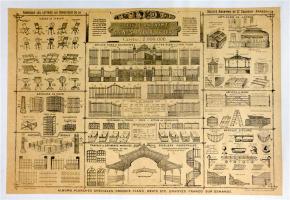 19de eeuwse Arras tuinbank