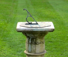 Antique marble sundial
