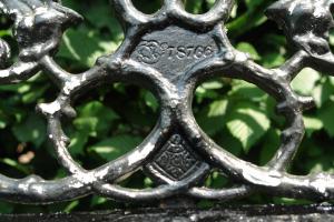 19de eeuwse Coalbrookdale tuinbank