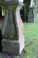 A pair of 18th century blue stone plinths