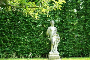 18th century French marble garden figure of Flora