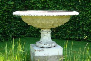 19th century cast iron tazza urn