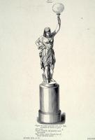 19de eeuws gietijzeren Coalbrookdale porte-lumière beeld
