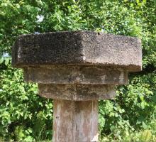 Een vroeg 20ste eeuw vogelbad