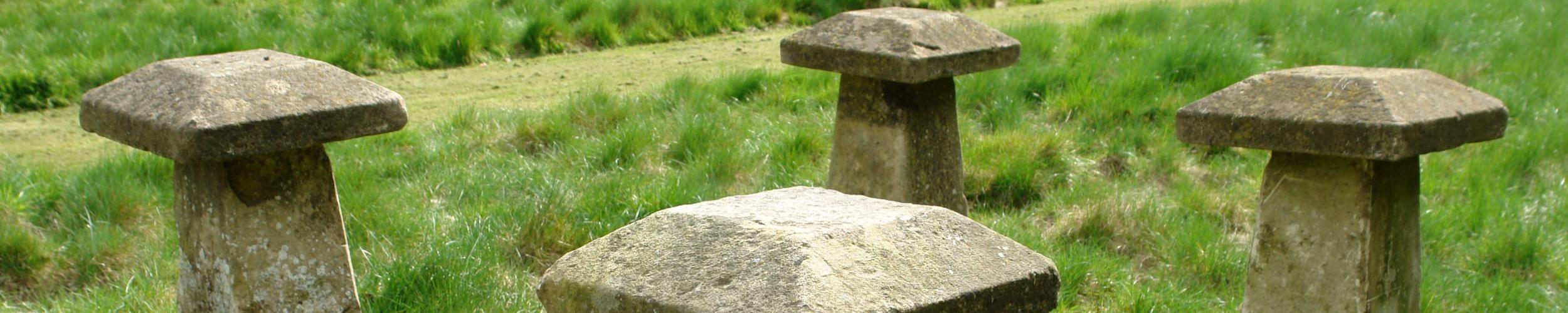 4 Edwardian staddle stones