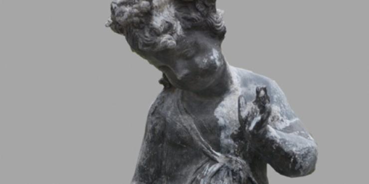 Loden tuinbeeld, herkomst Engeland, 19de eeuw