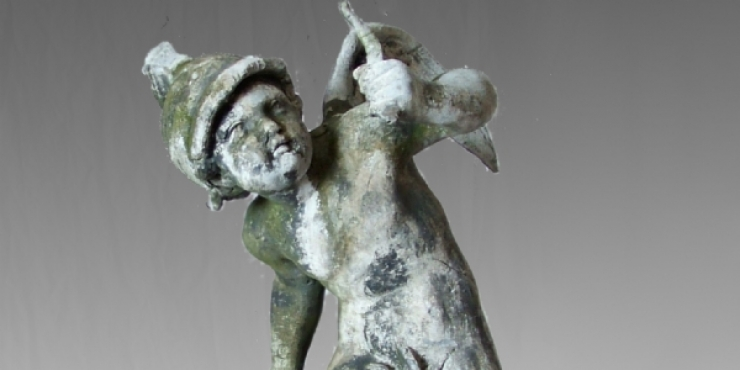 Lead garden figure of Cupido, early 19th century
