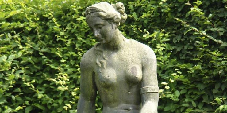Stone figure of Venus and Cupid