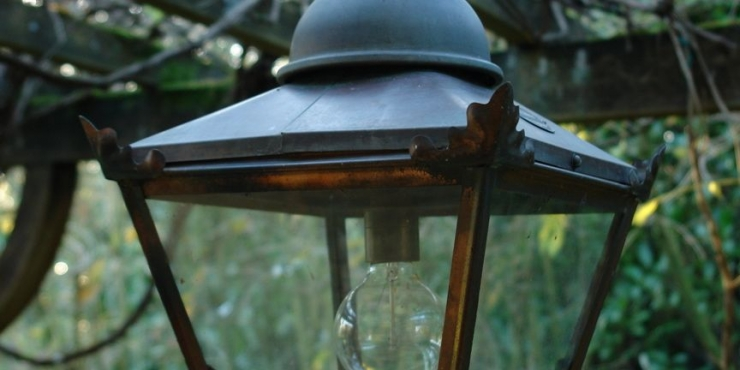Copper outside lantern