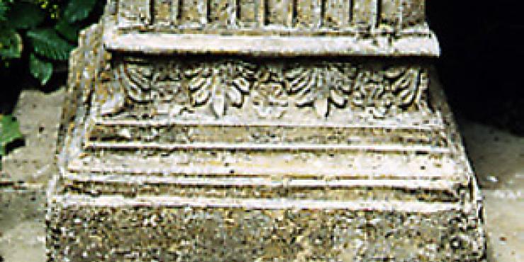 Sokkel in steengoed, Engels, 19de eeuw