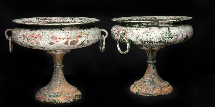 A pair of French garden vases, circa 1860