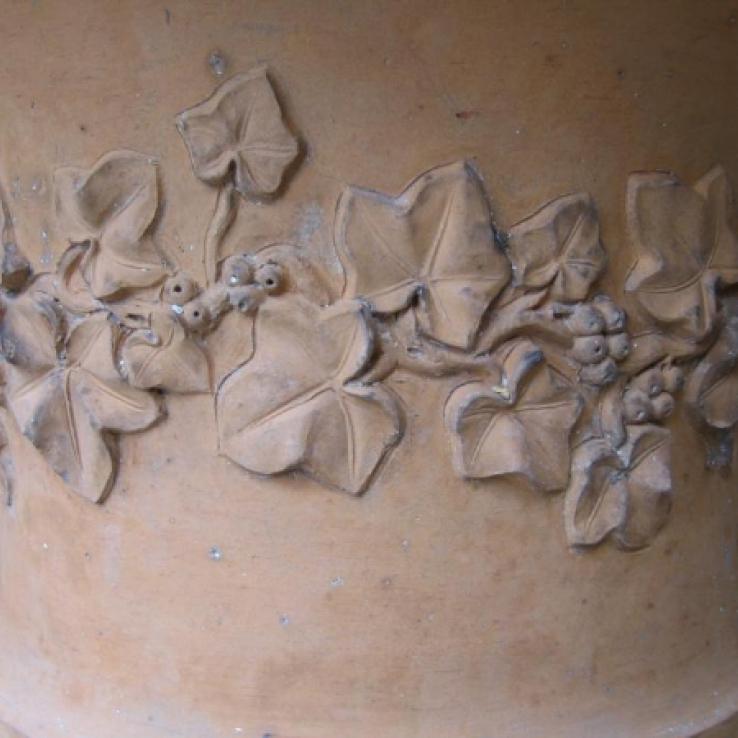 Terracotta tuinurne, Engeland, 19de eeuw