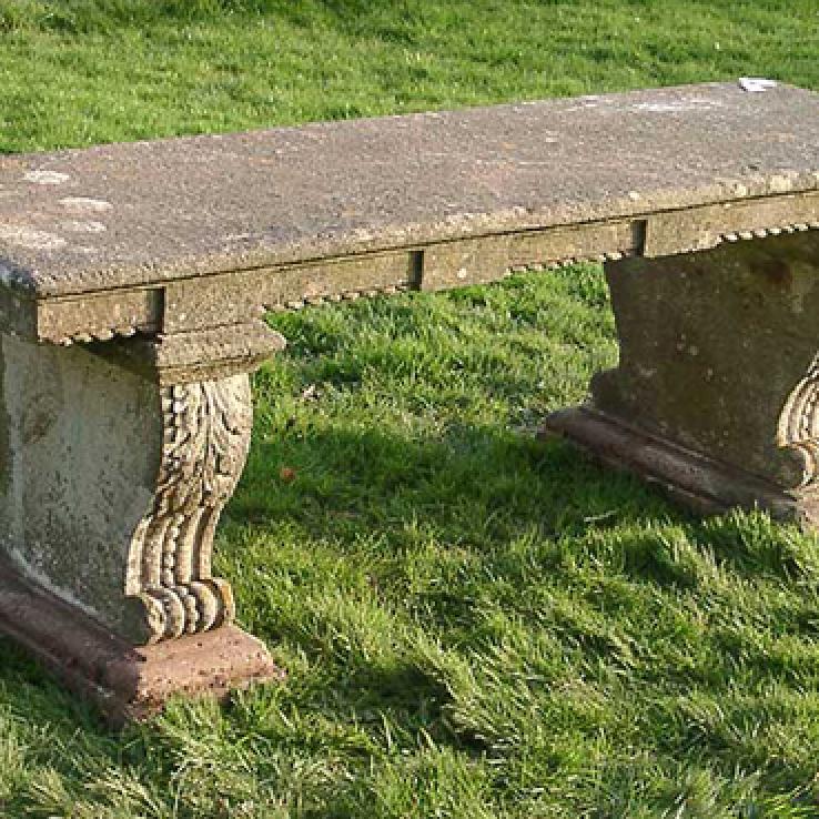 Regency garden seat