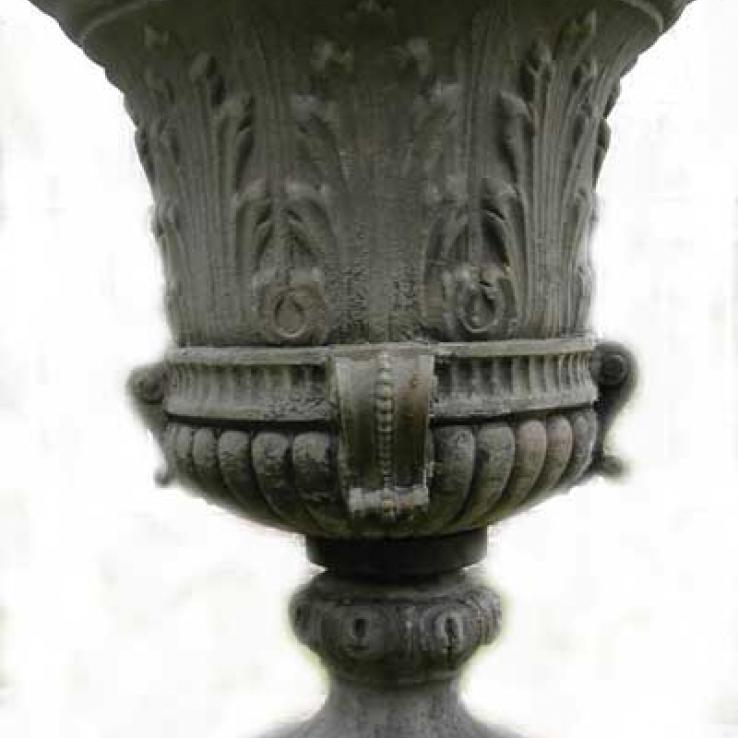 Antique garden urn, 1880-1890
