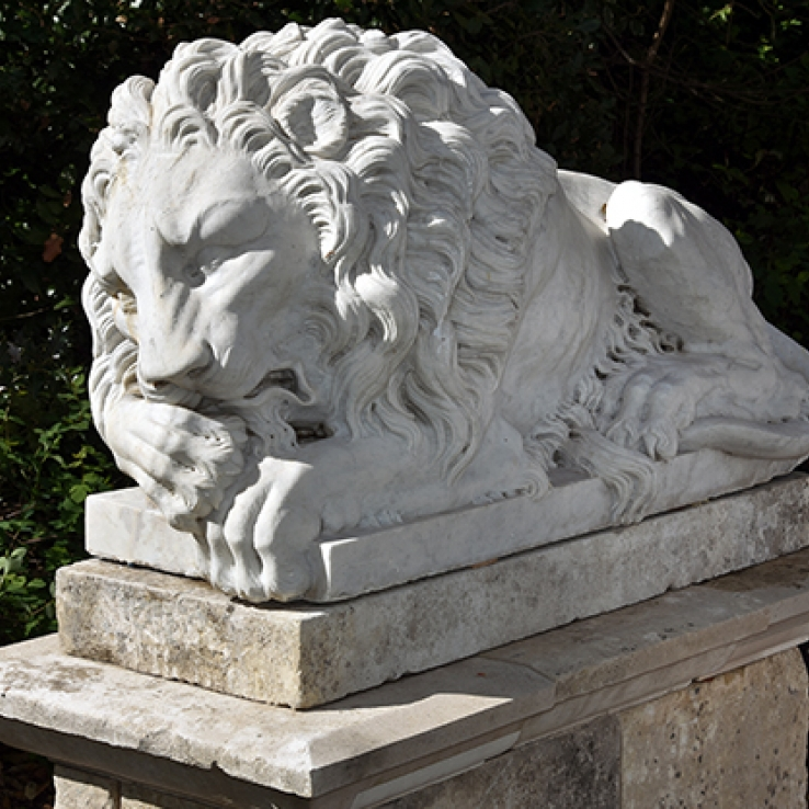 Pair of 19th century Canova- lions