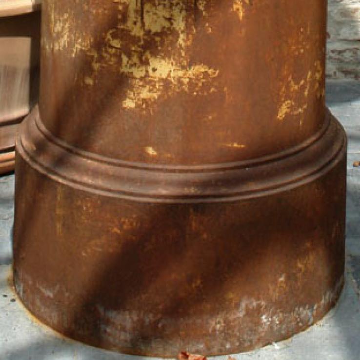 Cast iron Coalbrookdale plinth