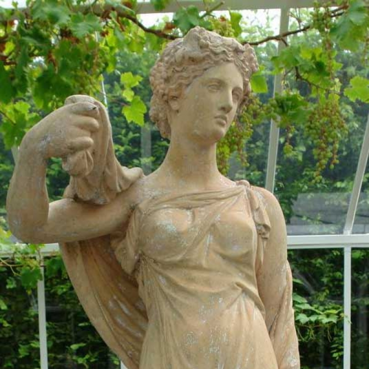 19th century stoneware statue of Autumn