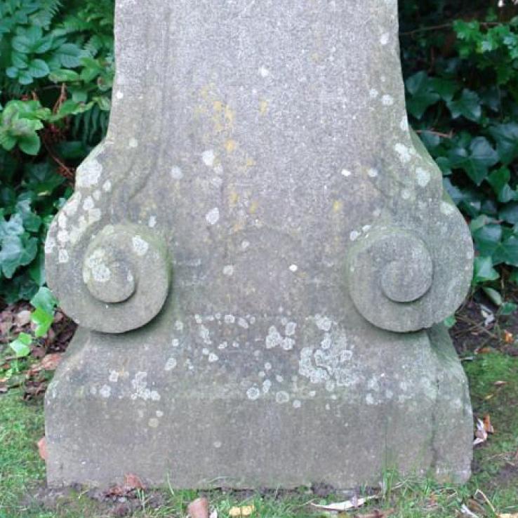 An 18th century blue stone plinth