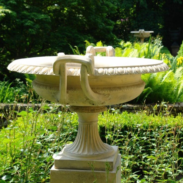 A pair J.M. Blashfield terracotta tazza- urns, circa 1860-1870