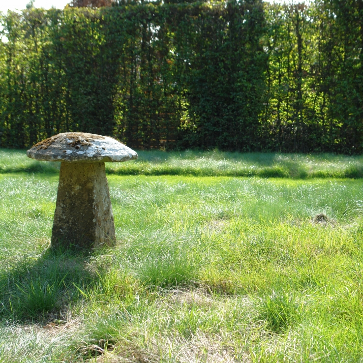 A pair of early 19th century staddle stones