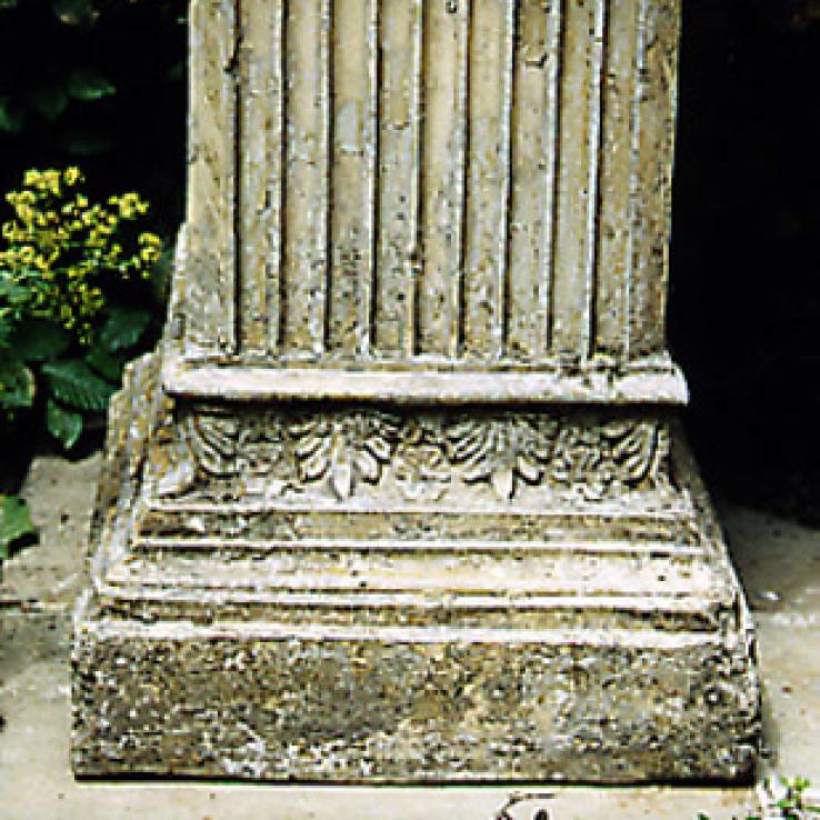 Stoneware pedestal, 19th century